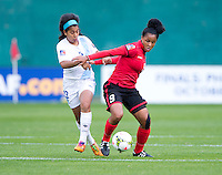 Washington, DC - October 20, 2014: Trinidad & Tobago defeated Guatemala 2-1 during their final group game of the CONCACAF Women's Championship at RFK Stadium.