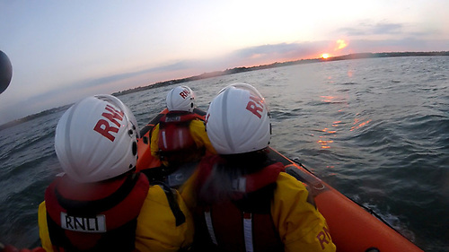 Skerries RNLI searching the shoreline from Loughshinny to Rush | Credit: RNLI/Gerry Canning
