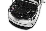 Car Stock 2018 Toyota C-HR XLE-Premium 5 Door SUV Engine  high angle detail view