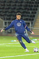 SWANSEA, WALES - NOVEMBER 12: Zack Steffen #1 of the United States national team warming up during a game between Wales and USMNT at Liberty Stadium on November 12, 2020 in Swansea, Wales.