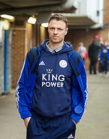 Jonny Evans of Leicester City arriving pre match during the FA Cup 4th round match between Brentford and Leicester City at Griffin Park, London, England on 25 January 2020. Photo by Andy Aleks.