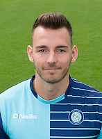 Max Müller of Wycombe Wanderers during the Wycombe Wanderers 2016/17 Team & Individual Squad Photos at Adams Park, High Wycombe, England on 1 August 2016. Photo by Jeremy Nako.
