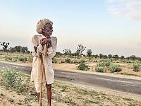 Elderly Farmer near Sambhar, Rajasthan