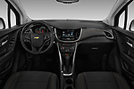 Stock photo of straight dashboard view of a 2020 Chevrolet Trax LS 5 Door SUV