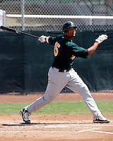 Franklin Hernandez - Oakland Athletics - 2009 spring training.Photo by:  Bill Mitchell/Four Seam Images