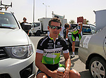 GreenEdge Cycling Team rider Robbie McEwen (AUS) has a coffee before the start of the 3rd Stage of the 2012 Tour of Qatar running 146.5km from Dukhan Souq, Dukhan to Al Gharafa, Qatar. 7th February 2012.<br /> (Photo Eoin Clarke/Newsfile)