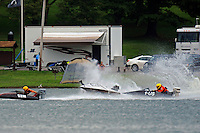 Frame 5: Grant Hearn (12-H) goes for a tumble at the start of the final heat 1.  (runabout)