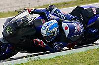 31st  March 2021; Barcelona, Spain; World Superbike testing at Circuit Barcelona-Catalunya;   Kohta Nozane (JPR) riding Yamaha YZF R1 for GRT Yamaha WORLDSBK Team