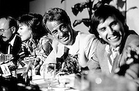 May 6, 1985 File Photo -  News conference for the movie HOLD UP ( a French-Quebec co production shot in Montreal) with actors Jean-Pierre Marielle, Kim Katrall, Jean-Paul Belmondo and Alexandre Arcady, filmaker