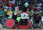 Zak Madell, Rio 2016 - Wheelchair Rugby // Rugby En Fauteuil roulant.<br /> Canada vs Japan in the Wheelchair Rugby bronze medal final // Le Canada contre le Japon dans la finale pour la médaille de bronze du rugby en fauteuil roulant. 18/09/2016.
