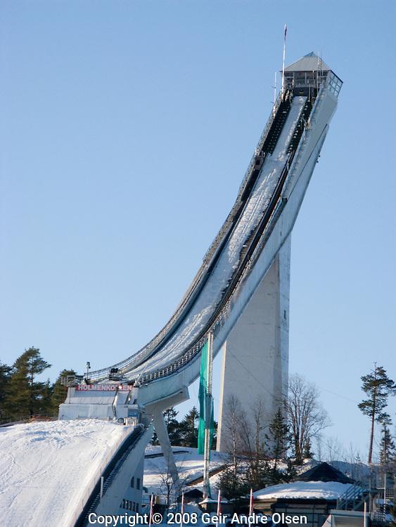 Holmekollen ski jump arena just autside Oslo in Norway