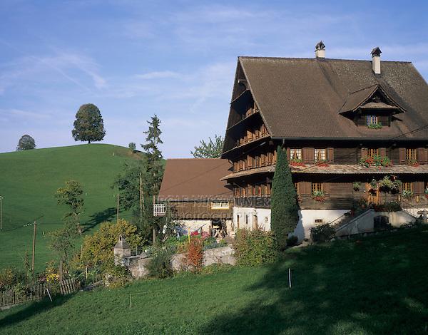 Farm house, Oberaegeri, Zug, Switzerland, Europe
