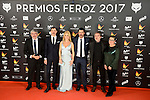 Cast of El Ministerio del Tiempo attends to the Feroz Awards 2017 in Madrid, Spain. January 23, 2017. (ALTERPHOTOS/BorjaB.Hojas)