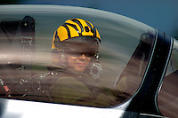 A French Dassault Rafale pilot with tiger striped helmet. Nato Tiger Meet is an annual gathering of squadrons using the tiger as their mascot. While originally mostly a social event it is now a full military exercise. Tiger Meet 2012 was held at the Norwegian air base Ørlandet.