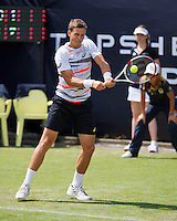 Netherlands, Den Bosch, 15.06.2014. Tennis, Topshelf Open, Vasek Pospisil (CAN)<br /> Photo:Tennisimages/Henk Koster