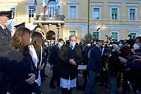 Roma, 27 Dicembre 2020<br /> Francesco Vaia, Claudia Alivernini . prima infermiera vaccinata.<br /> Conferenza stampa di presentazione della campagna di vaccinazione contro il Covid all'istituto Lazzaro Spallanzani