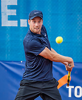 Amstelveen, Netherlands, 1 August 2020, NTC, National Tennis Center, National Tennis Championships, Men's Doubles final:   Botic van de Zandschulp (NED)<br /> Photo: Henk Koster/tennisimages.com