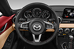 Car pictures of steering wheel view of a 2019 Mazda MX-5-Miata-RF Grand-Touring 2 Door Targa Steering Wheel