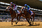 June 5, 2021: Drain the Clock, #2, ridden by jockey Jose Ortiz, wins the Woody Stephens Stakes on Belmont Stakes Day at the Belmont Stakes Festival at Belmont Park in Elmont, New York. Alex Evers/Eclipse Sportswire/CSM