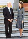 Queen Letizia of Spain receives the President of the Republic of Portugal, Mr. Marcelo Rebelo de Sousa during his official visit to Spain. April 16 ,2018. (ALTERPHOTOS/Acero)