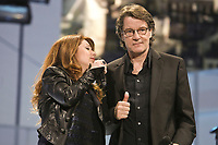 """Isabelle Boulay and Francis Cabrel perform at the """"Paris-Quebec"""" show of the 44th Festival d'ete de Quebec on the Plains of Abraham in Quebec city Thursday July 7, 2011."""