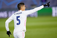 16th March 2021; Madrid, Spain;  Raphael Varane of Real Madrid during the Champions League match, round of 16, between Real Madrid and Atalanta played at Alfredo Di Stefano Stadium on March 16, 2020 in Madrid, Spain.