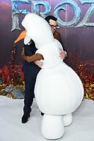 "LONDON, UK. November 17, 2019: Josh Gad arriving for the ""Frozen 2"" European premiere at the BFI South Bank, London.<br /> Picture: Steve Vas/Featureflash"