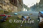 Litter strewn at Ardfert cathedral on Saturday.