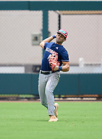 Calvary Christian Academy Eagles Kyle Tako (14) during practice before the 42nd Annual FACA All-Star Baseball Classic on June 5, 2021 at Joker Marchant Stadium in Lakeland, Florida.  (Mike Janes/Four Seam Images)