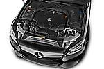 Car Stock 2014 Mercedes Benz C-CLASS Avantgarde 5 Door Wagon 2WD Engine high angle detail view