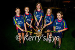 Members of AbbeyKilLix Camogie Club looking forward to representing Kerry at John West Féile in Croke Park at the end of October, l to r: Caoimhe Nolan (Kilflynn), Abby O'Donnell (Irremore), Ava Lyons (Lixnaw), Muireann Hussey (Kilflynn) and Sarah Breen (Kilflynn) .