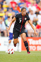 14 MAY 2011: USA Women's National Team midfielder Shannon Boxx (7) during the International Friendly soccer match between Japan WNT vs USA WNT at Crew Stadium in Columbus, Ohio.