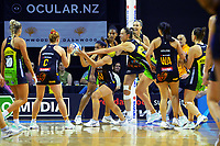 Grace Rasmussen takes a pass during the ANZ Premiership netball match between Central Pulse and Waikato Bay Of Plenty Magic at TSB Bank Arena in Wellington, New Zealand on Sunday, 30 May 2021. Photo: Dave Lintott / lintottphoto.co.nz