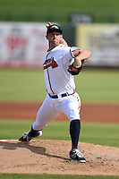 Peoria Javelinas pitcher Aaron Northcraft (61) during an Arizona Fall League game against the Mesa Solar Sox on October 15, 2014 at Surprise Stadium in Surprise, Arizona.  Mesa defeated Peoria 5-2.  (Mike Janes/Four Seam Images)