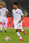 Akram Hassan Afif of Qatar (L) in action during the AFC Asian Cup UAE 2019 Quarter Finals match between Qatar (QAT) and South Korea (KOR) at Zayed Sports City Stadium  on 25 January 2019 in Abu Dhabi, United Arab Emirates. Photo by Marcio Rodrigo Machado / Power Sport Images