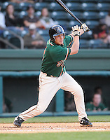 April 20, 2009: Infielder Daniel Pertusati (12) of the Greensboro Grasshoppers, Class A affiliate of the Florida Marlins, in a game against the Greenville Drive at Fluor Field at the West End in Greenville, S.C. Photo by: Tom Priddy/Four Seam Images