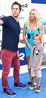 LOS ANGELES, CA - JULY 28: Britney Spears and Sean Federline attend the premiere Of Columbia Pictures' 'Smurfs 2' at Regency Village Theatre on July 28, 2013 in Los Angeles, California.