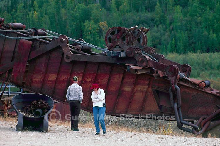 Old Gold Mining Equipment at Bonanza Creek, near Dawson City, YT, Yukon Territory, Canada