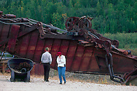 Old Gold Mining Equipment at Bonanza Creek, near Dawson City, YT, Yukon Territory, Canada