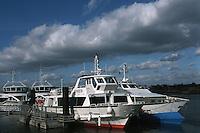 Europe/France/Bretagne/56/Morbilhan/Vannes: Embarcadère du Pont Vert - Vedettes d'excursion sur le Golfe