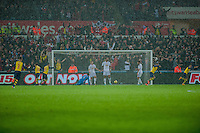 Sunday 9th November 2014<br /> Pictured: Arsenal score during the second half <br /> <br /> Re: Barclays Premier League Swansea City v Arsenal at the Liberty Stadium, Swansea, Wales,UK