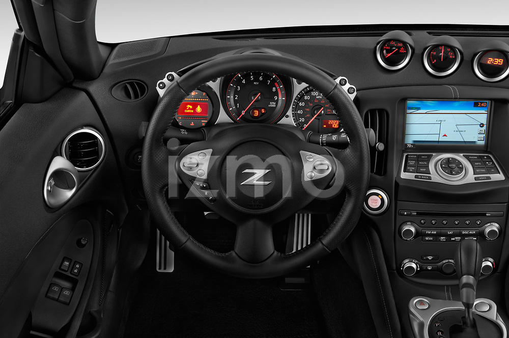 Car pictures of steering wheel view of a 2019 Nissan 370Z  Touring  2 Door Convertible