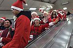 Christmas London Underground train 2015. UK