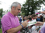 Paul McGinley signs autographs for the fans after his round of 68 during Day 2 of the 3 Irish Open at the Killarney Golf & Fishing Club, 30th July 2010..(Picture Eoin Clarke/www.golffile.ie)