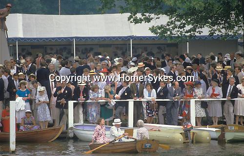 Henley Royal Regatta Henley on Thames Berkshire  UK.  Members Enclosure 1980s 1985