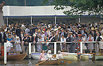 Henley Royal Regatta Henley on Thames Berkshire  UK.  Members Enclosure 1980s 1985