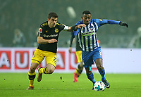 19.01.2018, Football 1. Bundesliga 2017/2018, 19.  match day, Hertha BSC Berlin - Borussia Dortmund, Olympiastadium Berlin.  Sokratis Papastathopoulos (Dortmund)  -  Salomon Kalou (Hertha BSC Berlin)  *** Local Caption *** © pixathlon<br /> <br /> +++ NED + SUI out !!! +++<br /> Contact: +49-40-22 63 02 60 , info@pixathlon.de