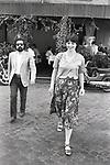 ISABELLA ROSSELLINI CON MARTIN SCORSESE<br /> RISTORANTE AL BOLOGNESE ROMA 1978
