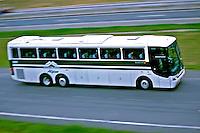 Transporte em onibus de passageiros, Rodovia Dutra, São Paulo. 2001. Foto de Juca Martins.