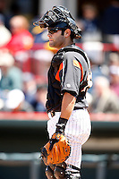 May 31, 2009:  Catcher Alex Avila of the Erie Seawolves in the field during a game at Jerry Uht Park in Erie, NY.  The Seawolves are the Eastern League Double-A affiliate of the Detroit Tigers.  Photo by:  Mike Janes/Four Seam Images